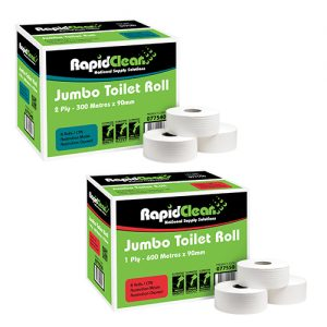 RapidClean Jumbo Toilet Tissue Roll 1 Ply - 2 Ply