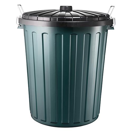 Garbage Bin Plastic w/lid - Green 75L