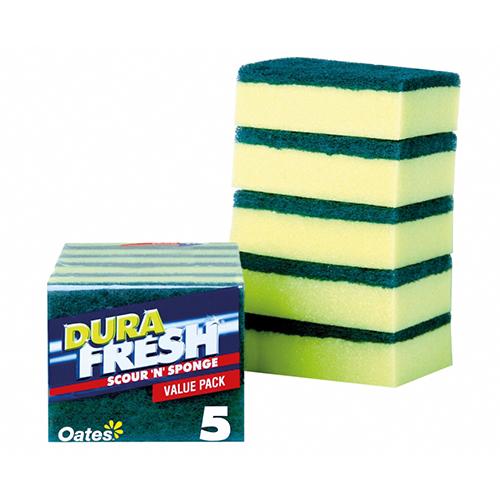 DuraFresh Scour 'N' Sponge - 5 Pack