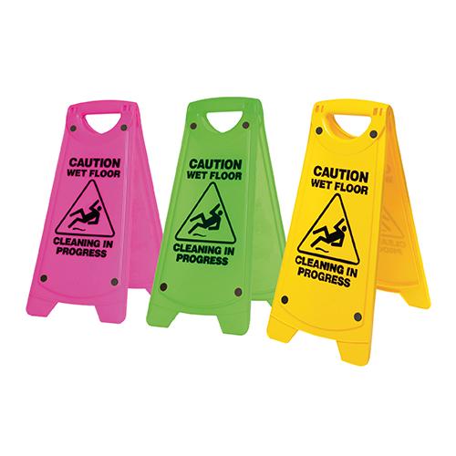 Non-Slip 'A' Frame Caution Wet Floor Sign