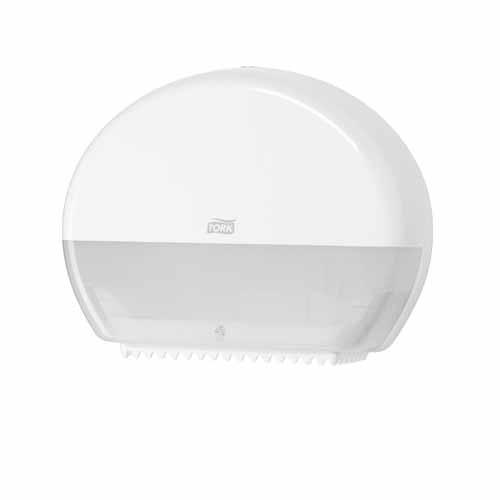 Tork Mini Jumbo Toilet Roll Dispenser White T2