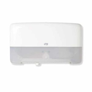 Tork Twin Mini Jumbo Toilet Roll Dispenser White T2