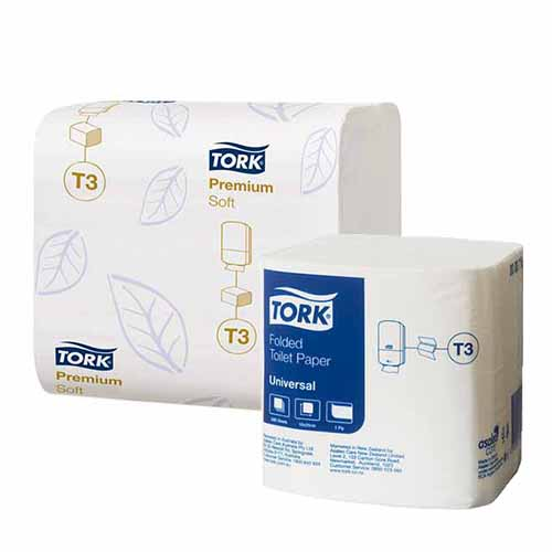 Tork T3 Folded Toilet Tissue