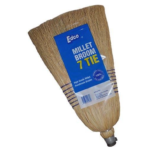 Edco Millet Broom With Handle 7 Tie