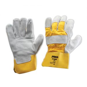 ProChoice Leather Yellow Grey Gloves