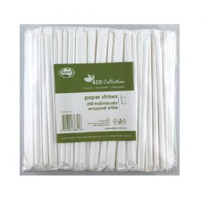 Alpen Paper Drinking Straws Individually Wrapped