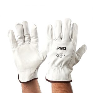 RiggaMate Cow Grain Natural Riggers Gloves