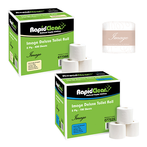 RapidClean Image Deluxe Toilet Tissue Roll 400s - 700s