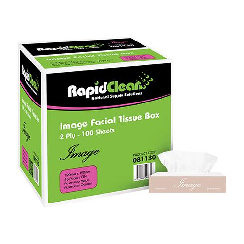 RapidClean Image Facial Tissue Box 100 Sheets