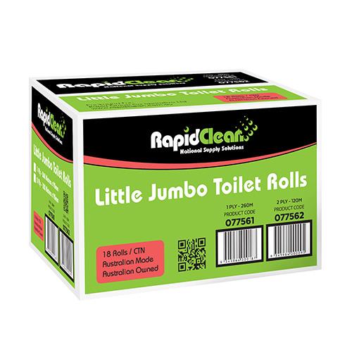 RapidClean Little Jumbo Toilet Rolls