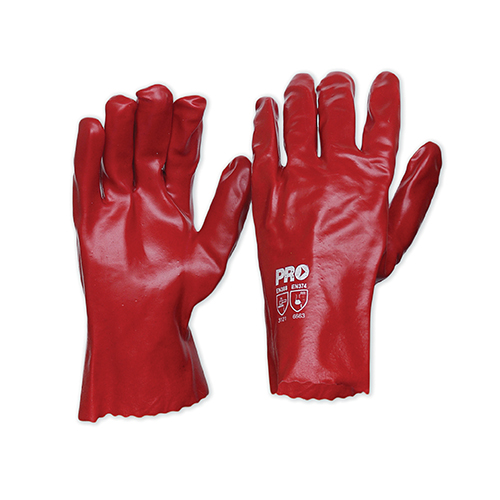ProChoice Red PVC Gloves 27cm