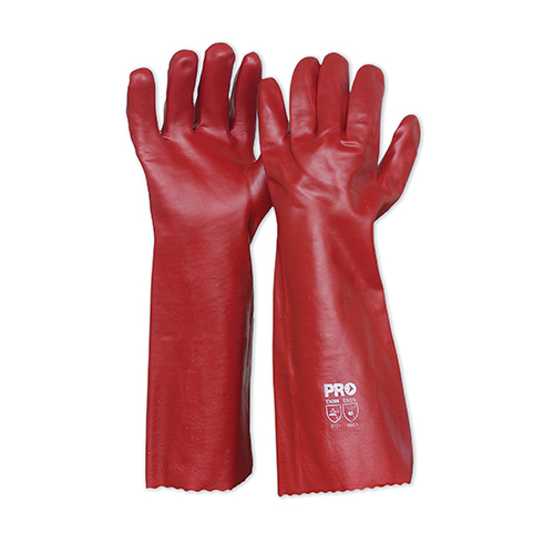 ProChoice Red PVC Gloves 45cm