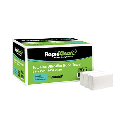 RapidClean Towelex Ultraslim Hand Towel 2400 Sheets